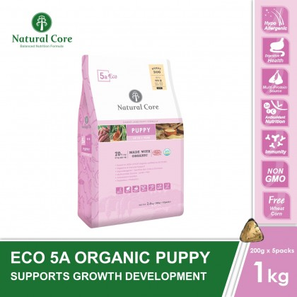 Natural Core Eco 5A Organic Puppy (Dog) - 1kg