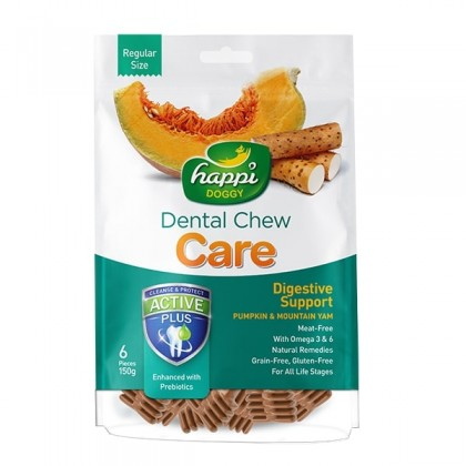 Happi Doggy® Dental Chew Care - Digestive Support (150g)