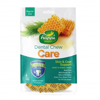 Happi Doggy® Dental Chew Care - Skin & Coat Support (150g)