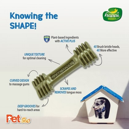 Happi Doggy® Dental Chew Zest (150g)