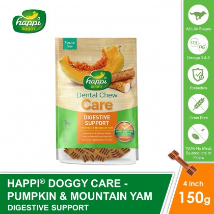 Happi Doggy® Dental Hard Chew Care - Digestive Support (150g)