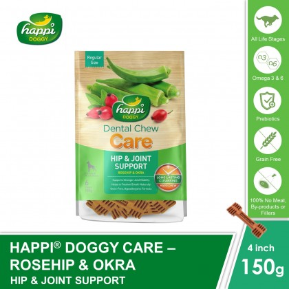 Happi Doggy® Dental Hard Chew Care - Hip & Joint Support (150g)