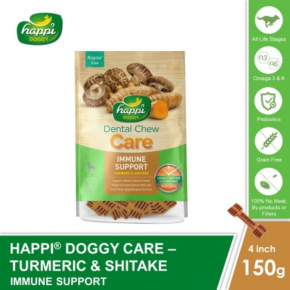 Happi Doggy® Dental Hard Chew Care - Immune Support (150g)