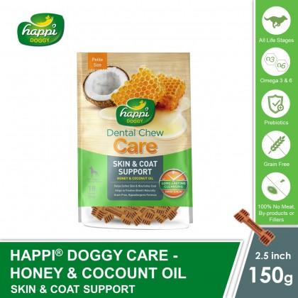 Happi Doggy® Dental Hard Chew Care - Skin & Coat Support (150g)